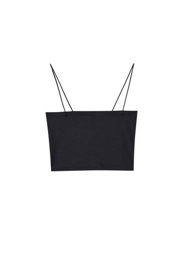 Basic strappy crop top