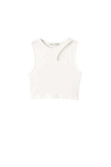 Camiseta cropped cut out