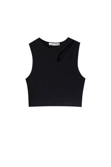 Crop top with cut-out detail