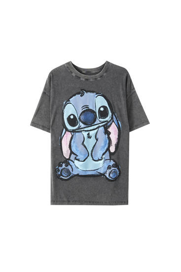"T-shirt with ""Stitch"" illustration"