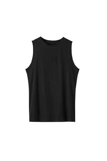 Camiseta básica manga sisa