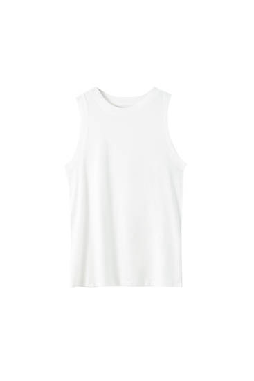 Ärmelloses Basic-Shirt