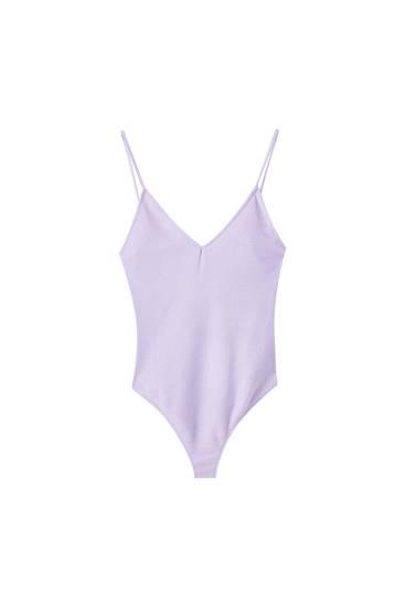 Lilac strappy bodysuit