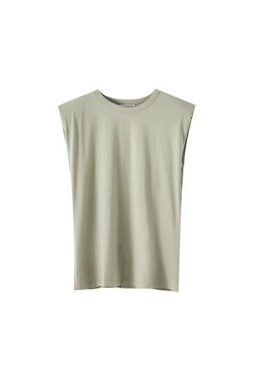 Camiseta manga sisa detalle hombreras
