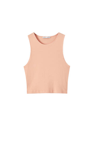 Basic ribbed top in plain colours