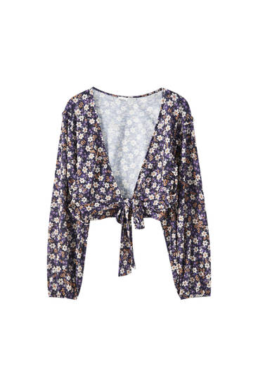 Multiway printed blouse