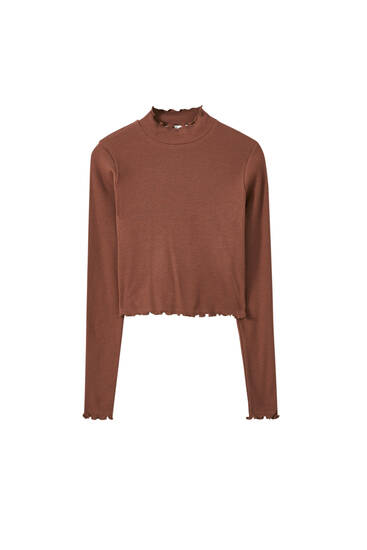 Long sleeve seamed T-shirt