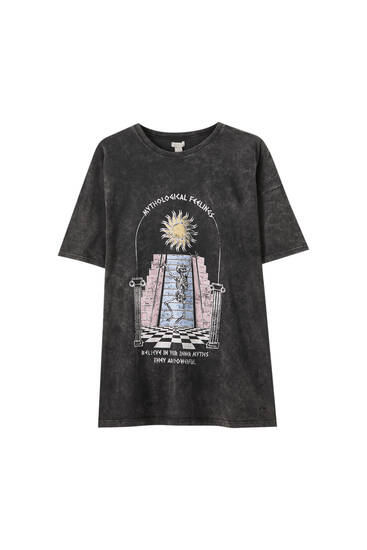 Faded black sun T-shirt
