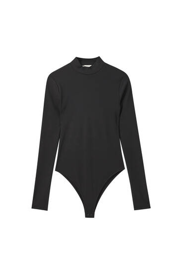 Black bodysuit with open back