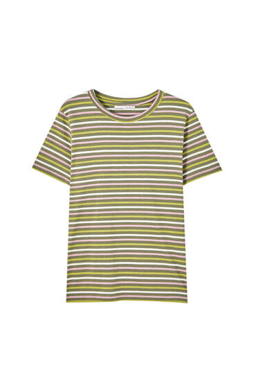 Basic striped cotton T-shirt