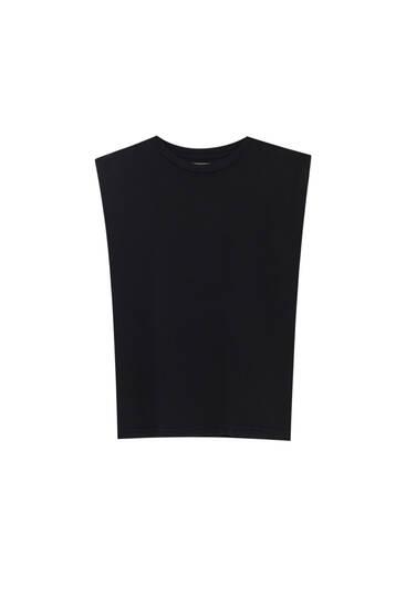 Basic-Shirt mit weiter Schulterpartie