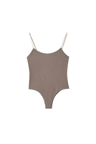 Seamless bodysuit with double straps