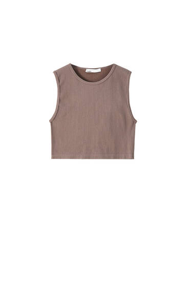 Seamless sleeveless basic top