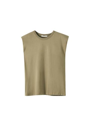 Ärmelloses Shirt mit Schulterpolster