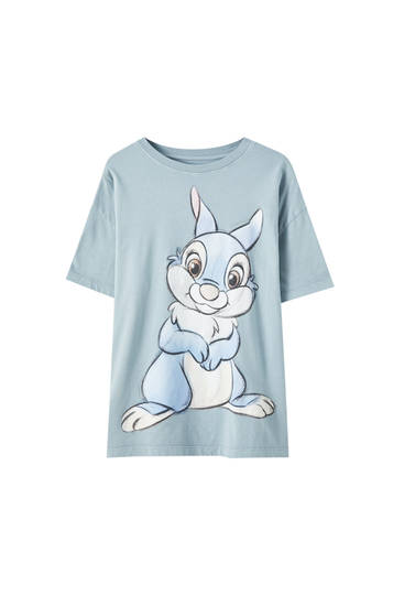 Green T-shirt with Thumper illustration