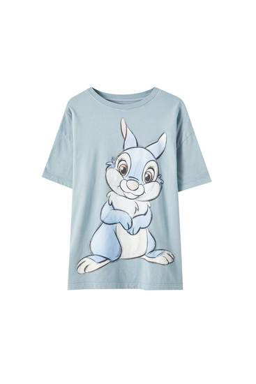 Camiseta verde ilustración Thumper