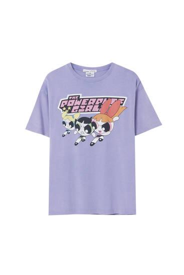 Shirt Powerpuff Girls in Lila