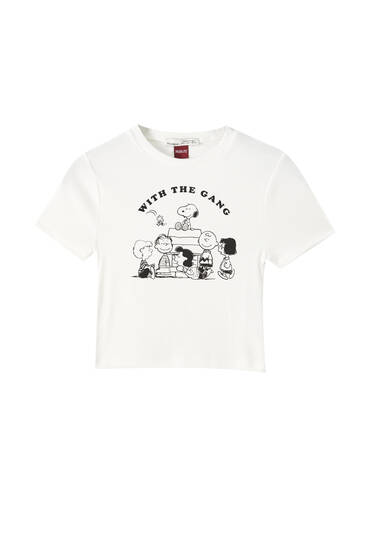Ribbed Snoopy T-shirt
