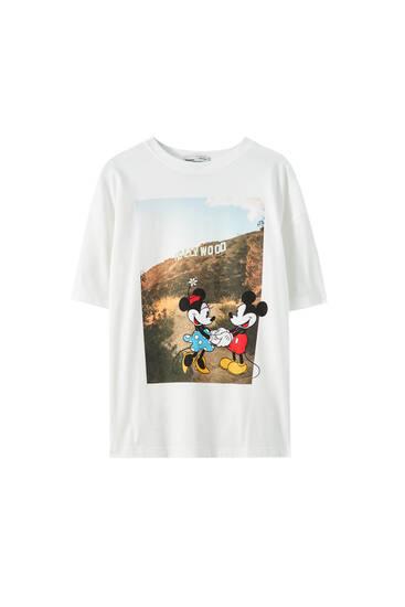 Shirt mit Motiv Micky und Minnie Maus