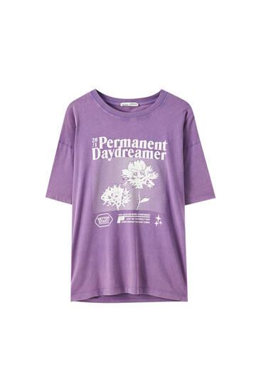 Geblümtes Baumwoll-Shirt