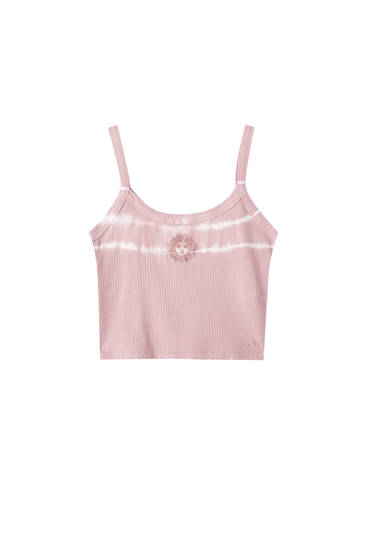 Top rosa tie dye sol