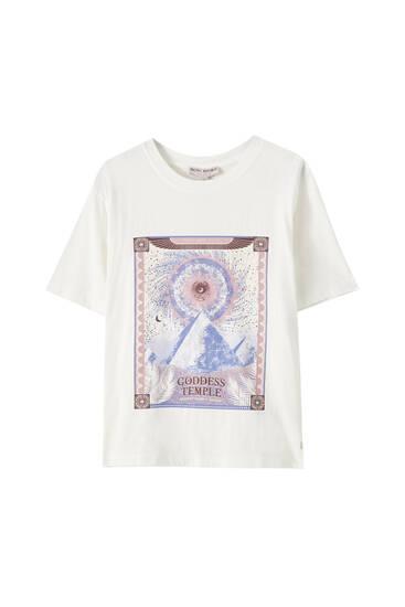 Shirt Pyramidenmotiv