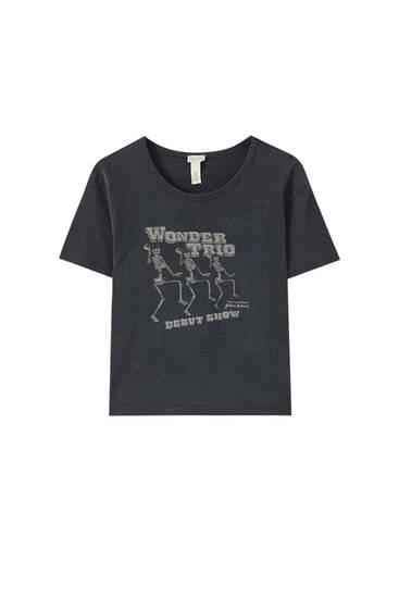 """Shirt mit Skelett-Motiv """"Wonder Trio"""""""
