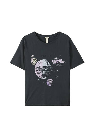 Planets illustration T-shirt