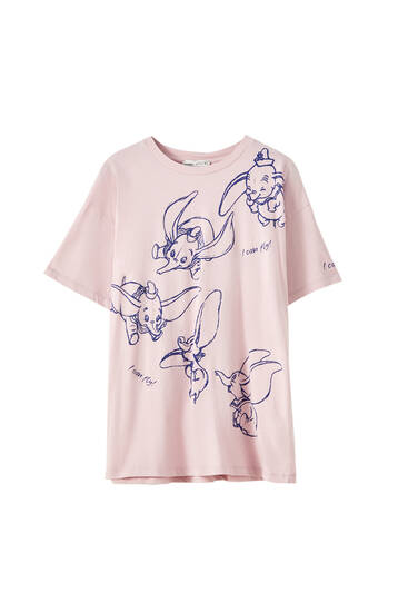 Pink Dumbo design T-shirt