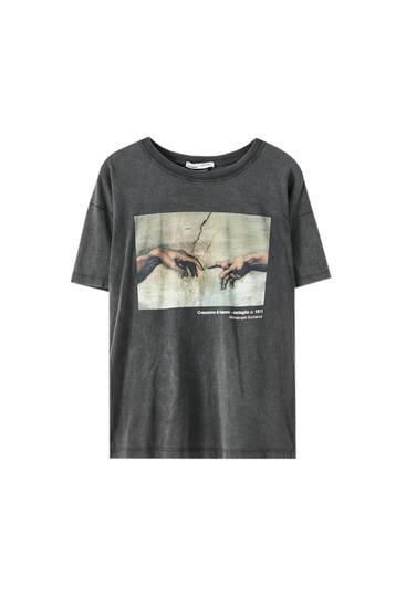 T-Shirt mit Grafik der Sixtinischen Kapelle