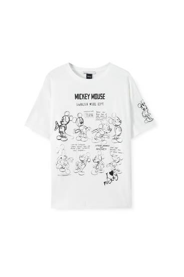 Weißes Shirt mit Micky-Maus-Motiv