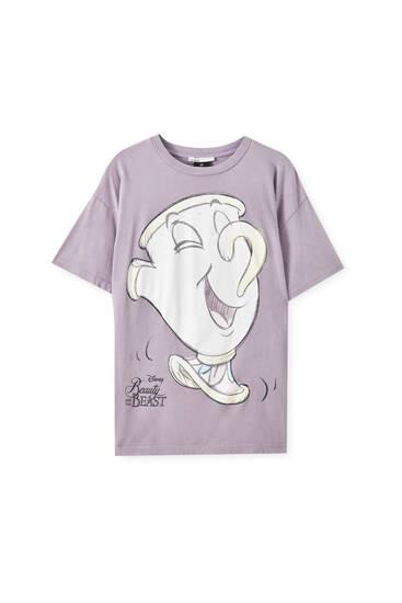 "Pink ""Chip"" illustration T-shirt"