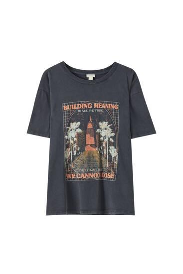 Shirt mit Gebäudemotiv