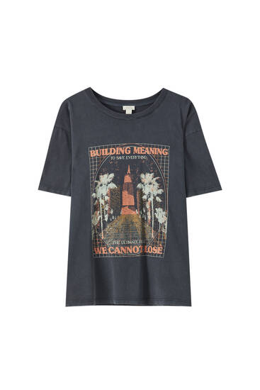 Building illustration T-shirt