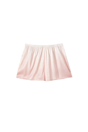 Lace-trimmed ombré shorts