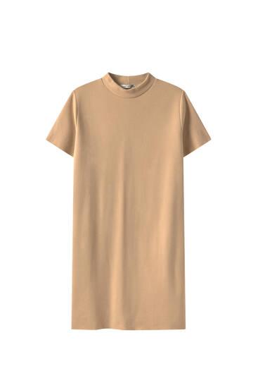 Платье-рубашка из мягкой ткани