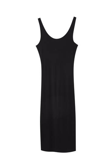 Basic strappy midi dress