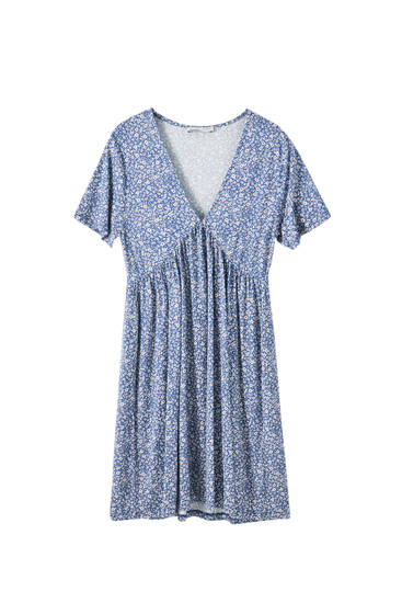 Short flowing crepe dress