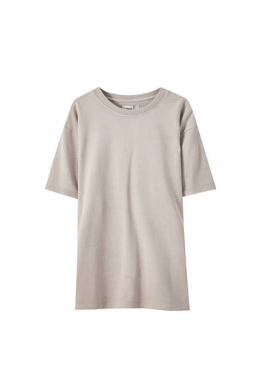 Faded-effect T-shirt dress