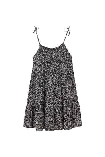 Vestido mini tirantes estampado