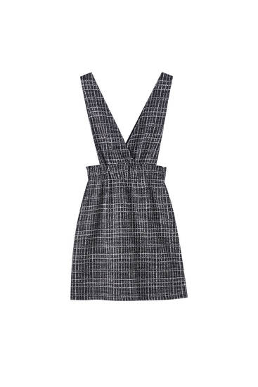 Black checked pinafore dress