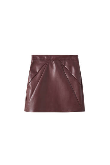 Basic faux leather skirt