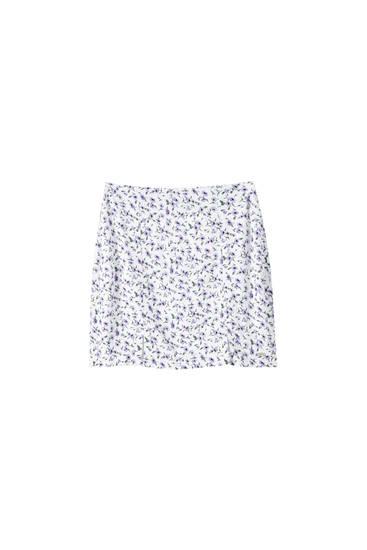 Minifalda flores detalle aberturas
