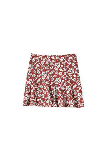 Jupe-culotte imprimé floral