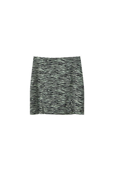 Mini skirt with slit details