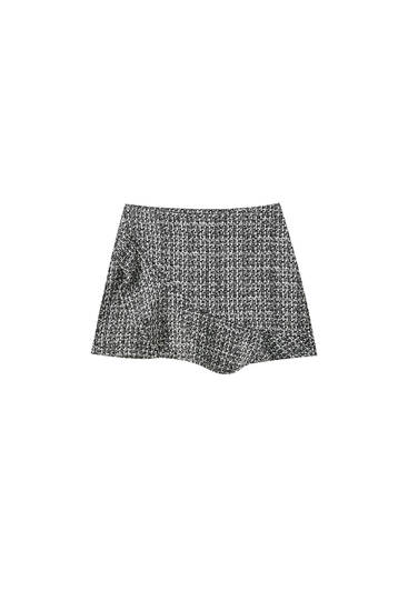 Skort with front ruffle
