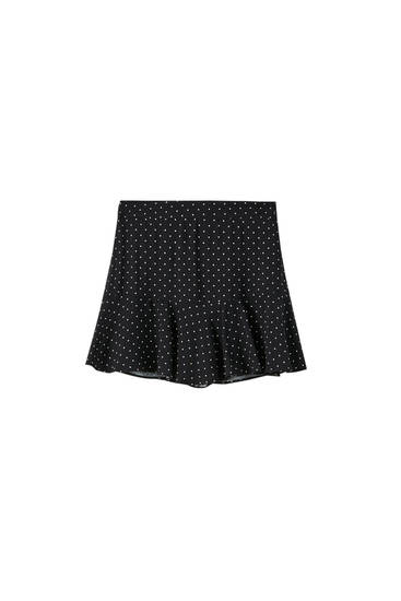 Ruffled printed skort