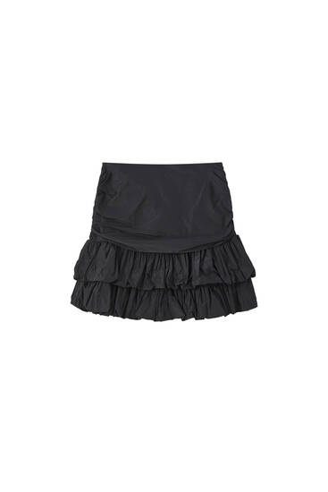 Black balloon mini skirt