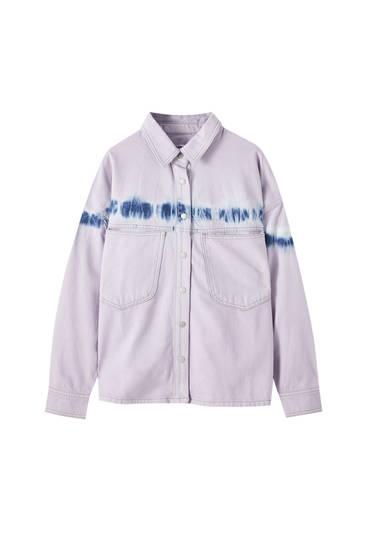 Lilac tie-dye shirt