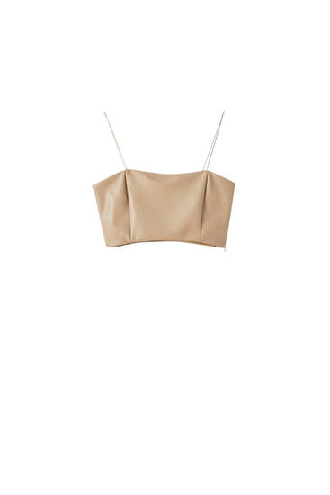 Top cropped efecto pel